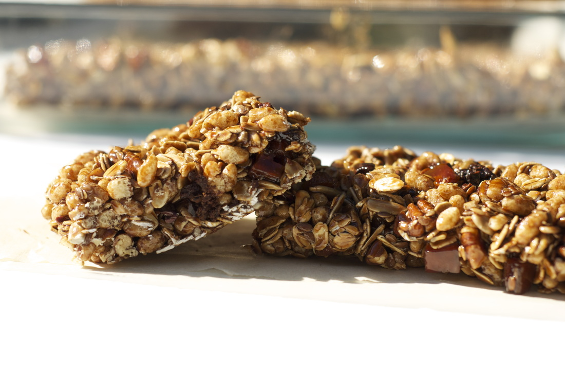 zed handmade's delicious gluten-free vegan granola bars with recipe