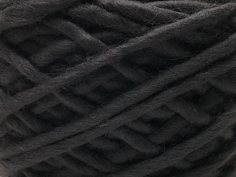 Peruvian highland wool in black for your LANE custom scarf