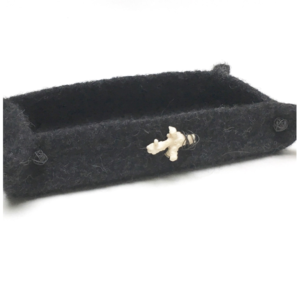 BOKS is a hand felted rectangular vessel in 2 sizes from zed handmade