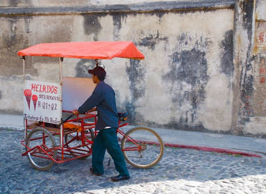 Street vendor in old Antigua Guatemala