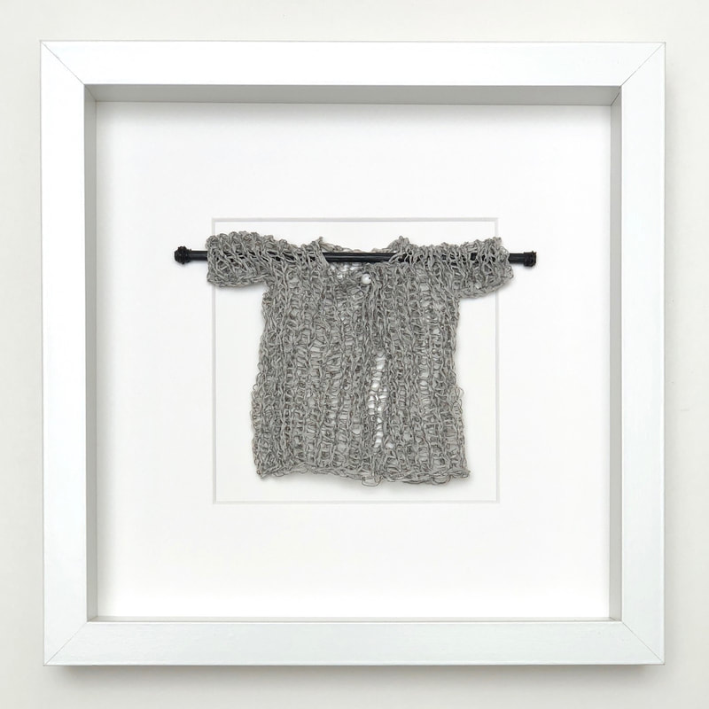 FRAMED - pewter coloured japanese cotton knitted sweater  9x9 zed handmade