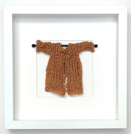FRAMED - toffee coloured japanese cotton knitted sweater  9x9 zed handmade