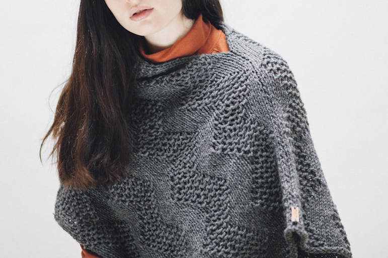 LUCE Warmer in steel  |  zedhandmade winter 2015 lookbook