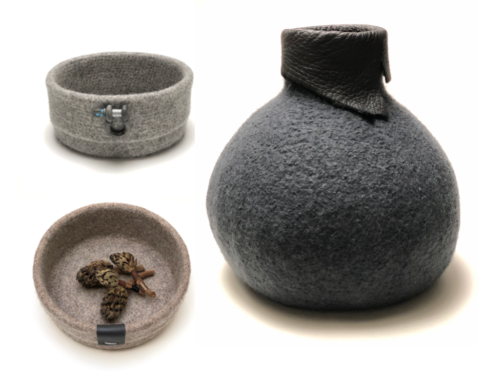 The Circle Craft Collection of felted vessels