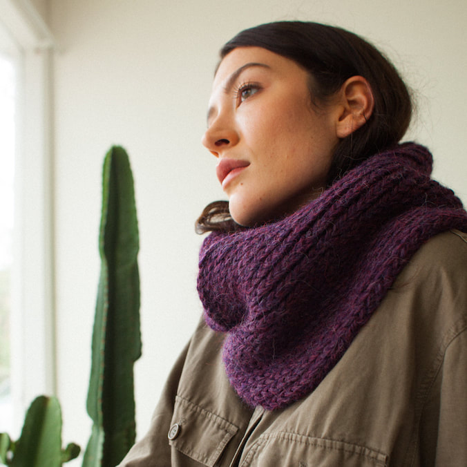 SOPHIE hand knit Peruvian alpaca infinity scarf from zedhandmade.com